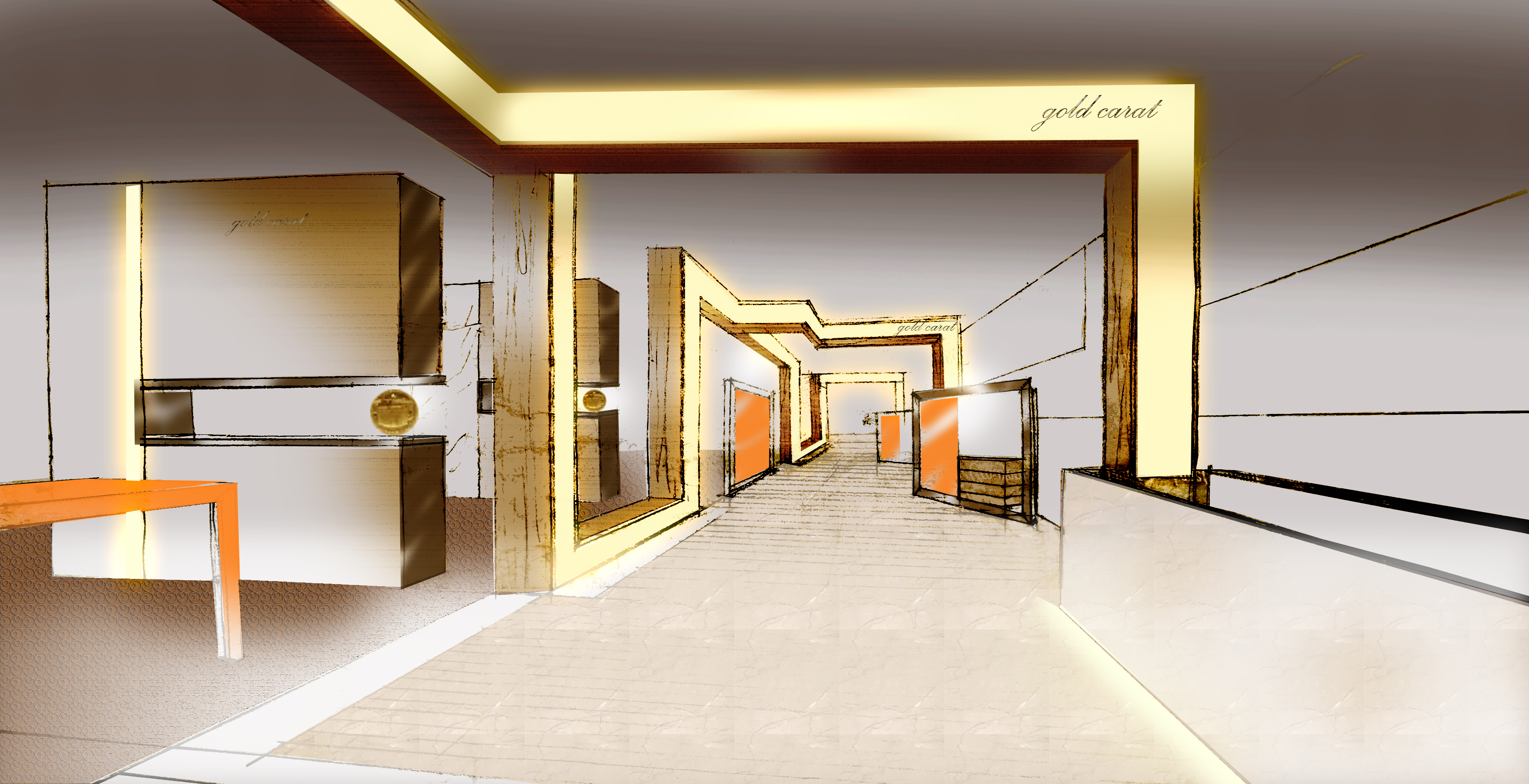 Jewelry shop in mainland china millwork interiors for Shop interior design